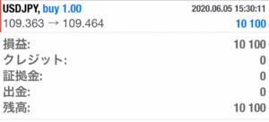 雇用統計でXMを使って1万円の利益