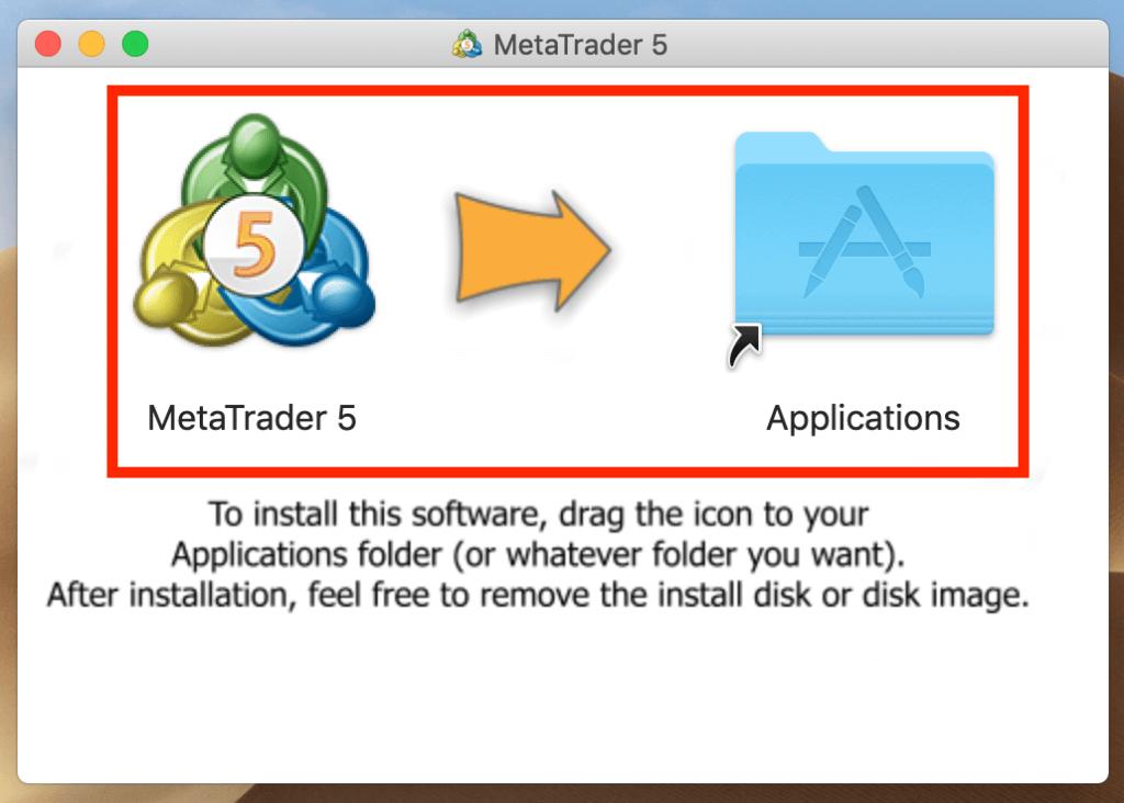 mt5をアプリケーションフォルダへドラッグ