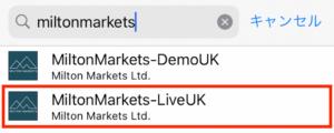 Milton Marketsのライブサーバーを検索