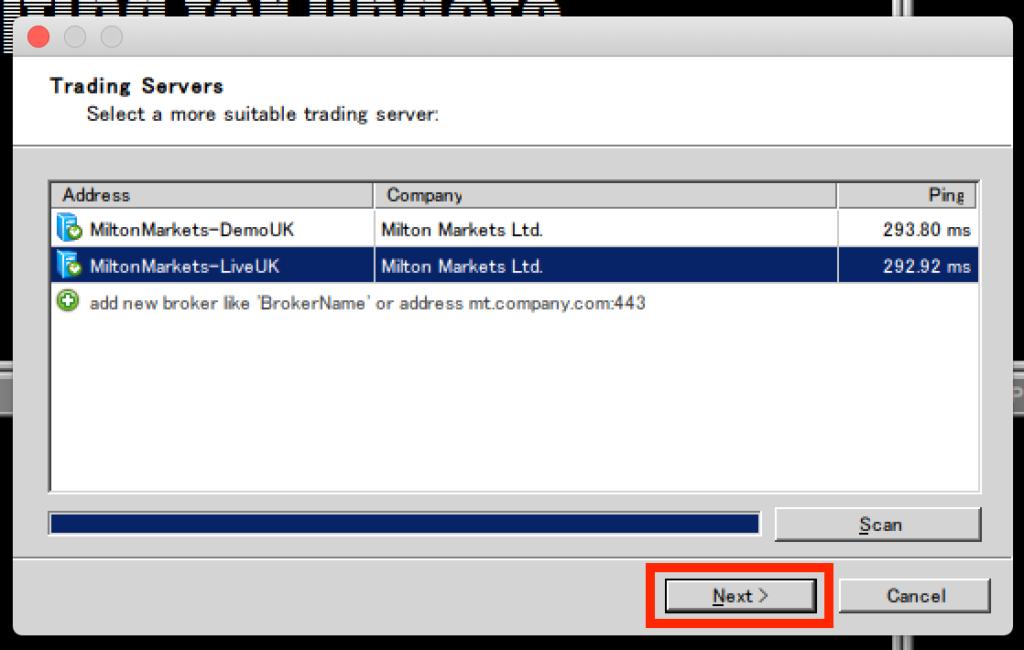 macmt4でサーバーを指定