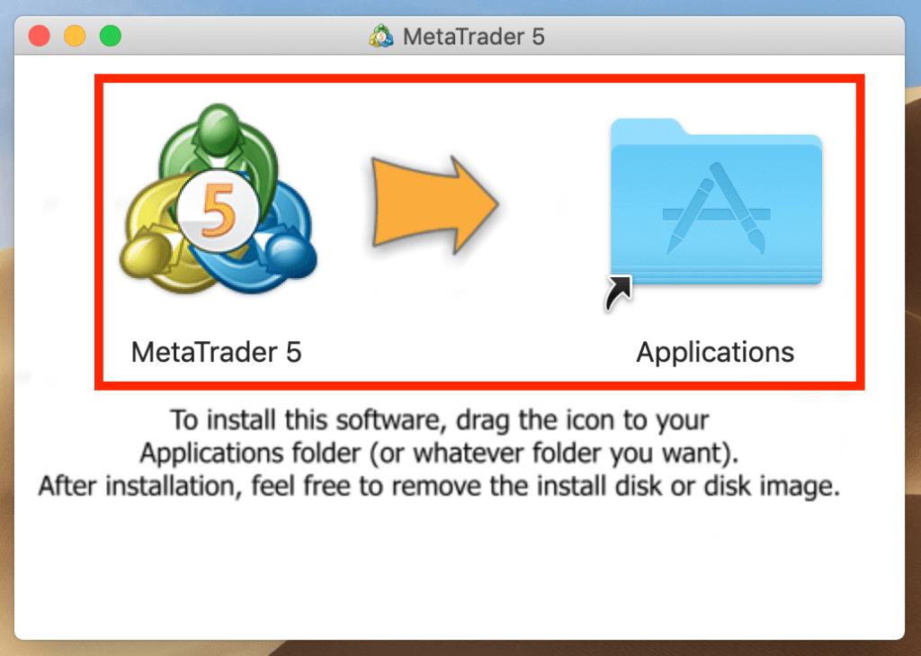 MT5をアプリケーションへ移動