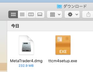 ttcmのmt4インストーラー(WindowsとMacOS)
