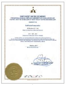 ホットフォレックスのライセンス(セントビンセント&グレナディン)